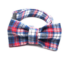 Load image into Gallery viewer, Pink & Blue Multi Plaid Collar