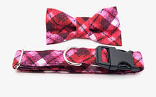 Load image into Gallery viewer, Christmas Plaid Dog Collar w/Bow