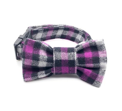 Purple Plaid Collar
