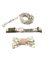 Load image into Gallery viewer, Green Trees Collar Leash Set