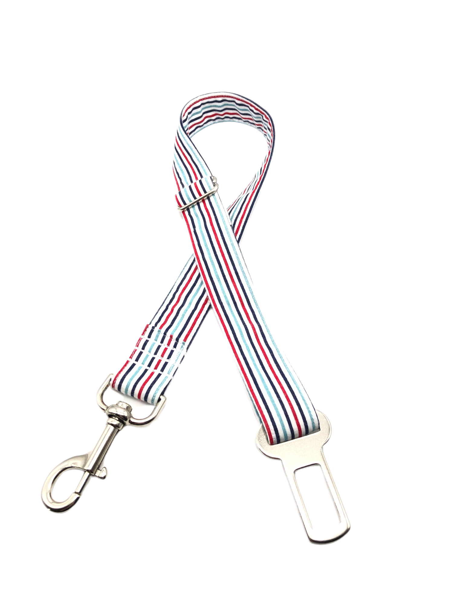 Red Multi Stripe Seat Belt Restraint