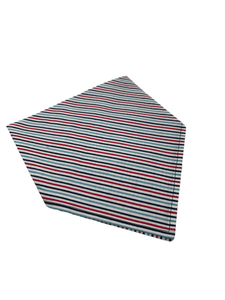Red Multi Stripe Dog Bandanna