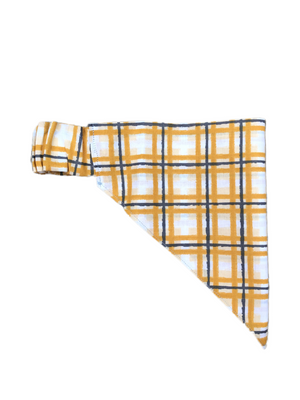 Mustard Plaid Stretch-danna