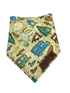 Camping Woodland Animals Dog Bandanna