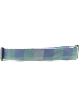 Green Blue Plaid Collar & Matching Scrunchie