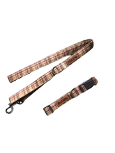 Load image into Gallery viewer, Plaid Dog Collar Leash Set