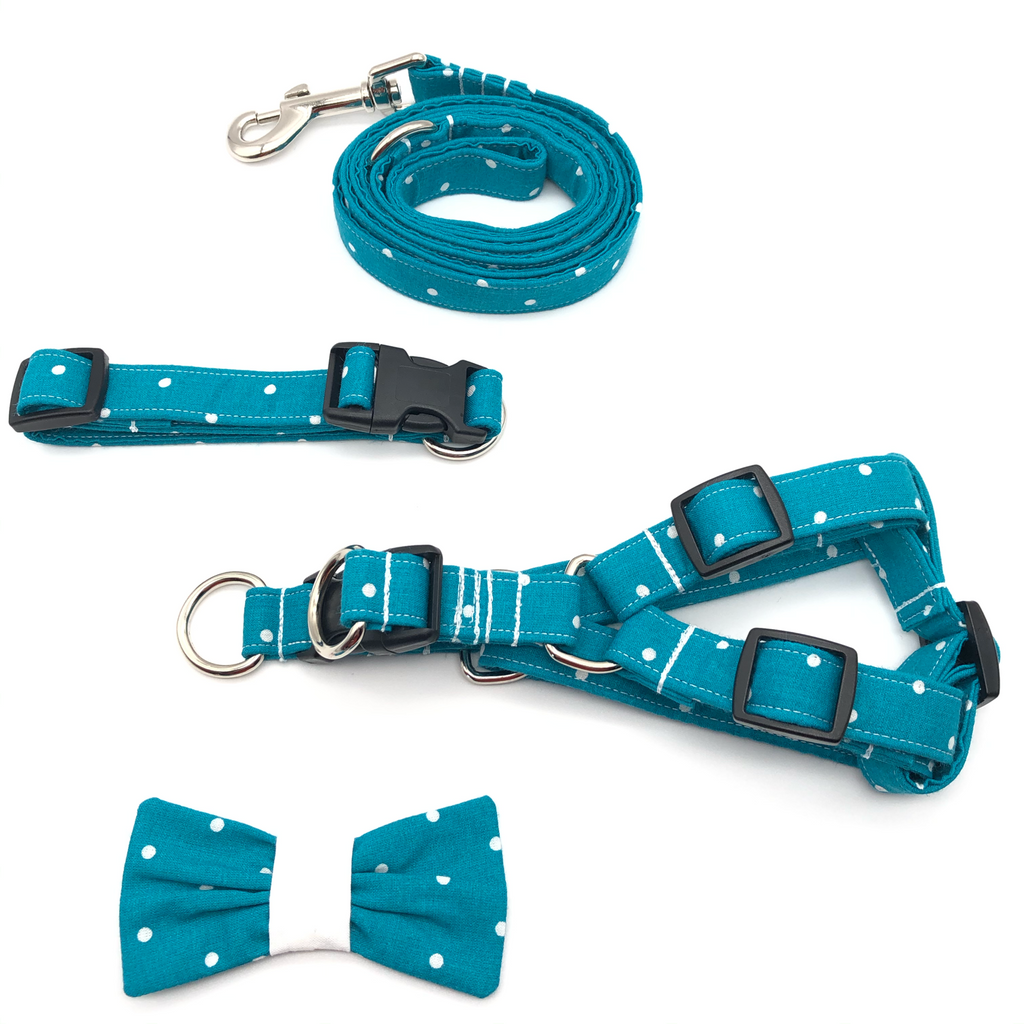 Turquoise Polka Dot Bundle Set
