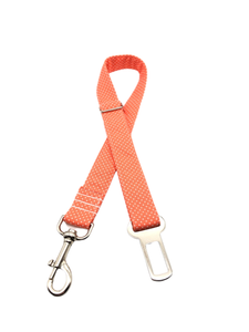 Orange Polka Dot Seat Belt Restraint