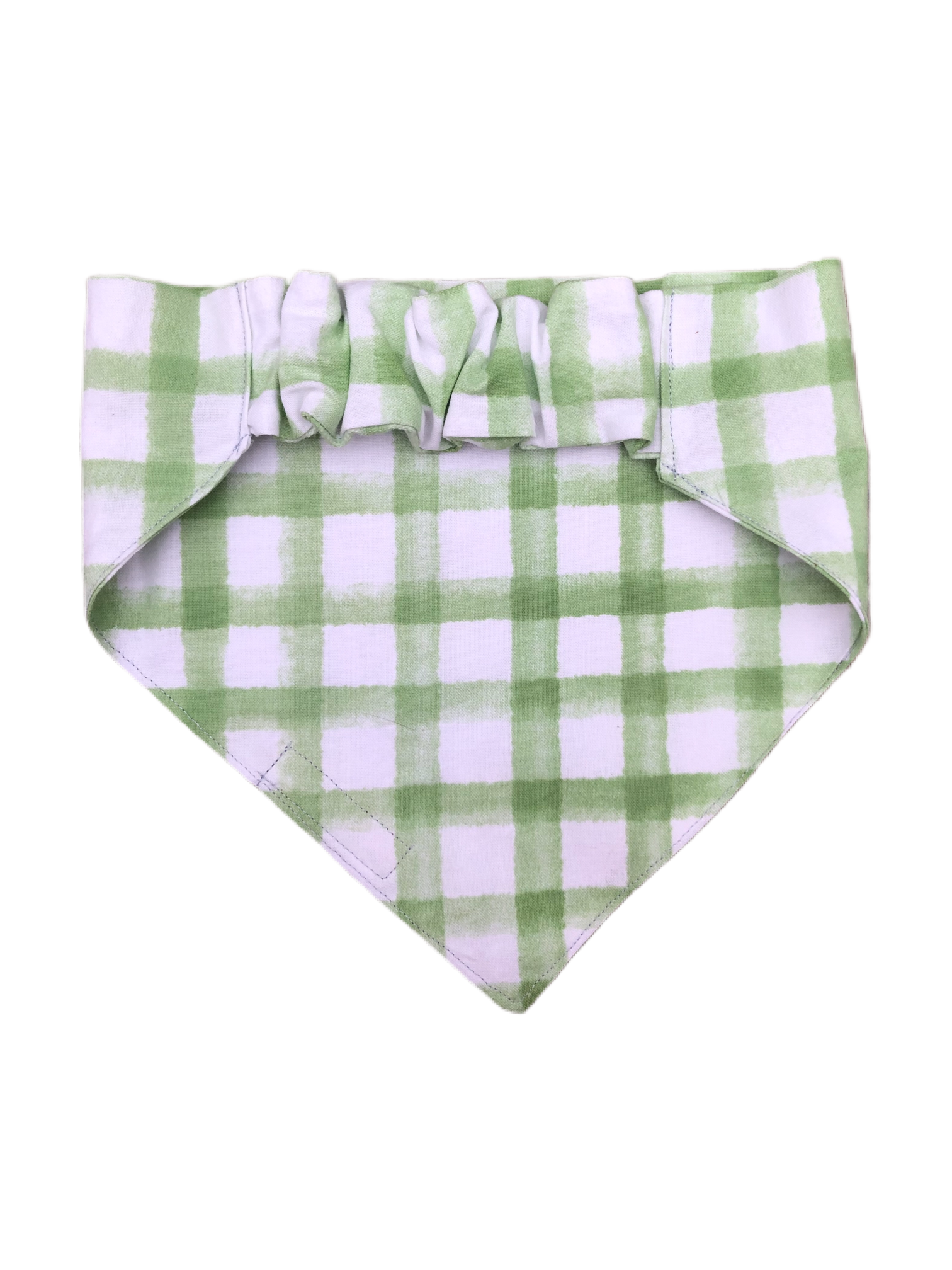 Green Plaid Watercolor Stretch-danna