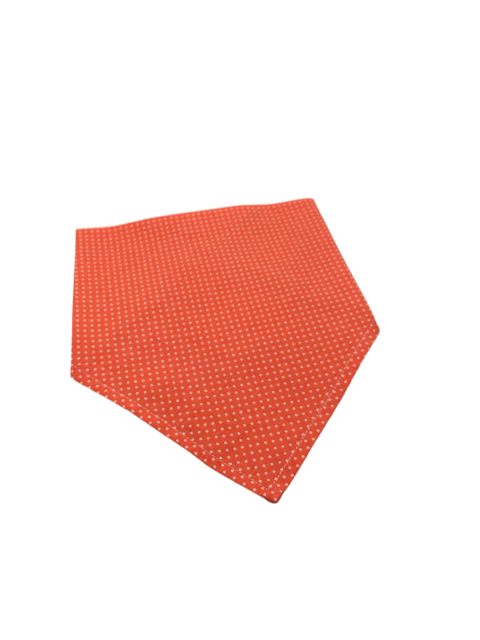 Orange Polka Dot Dog Bandanna