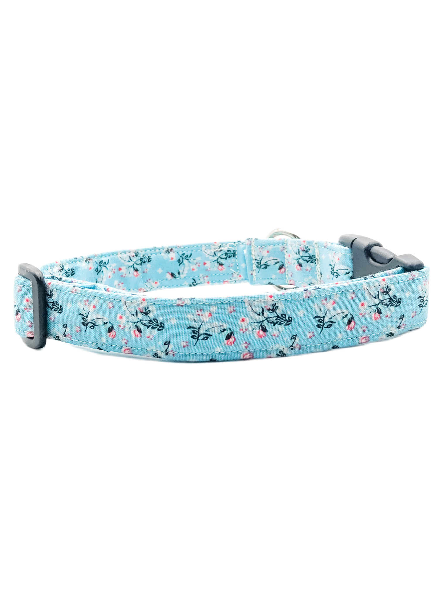 Blue Floral Collar & Matching Scrunchie