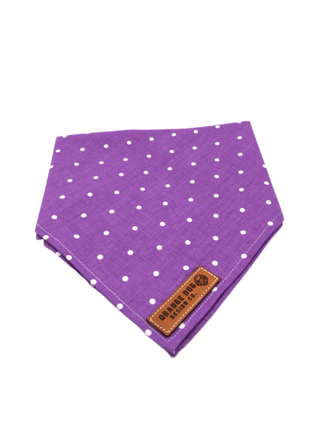 Purple Polka Dot Dog Bandanna