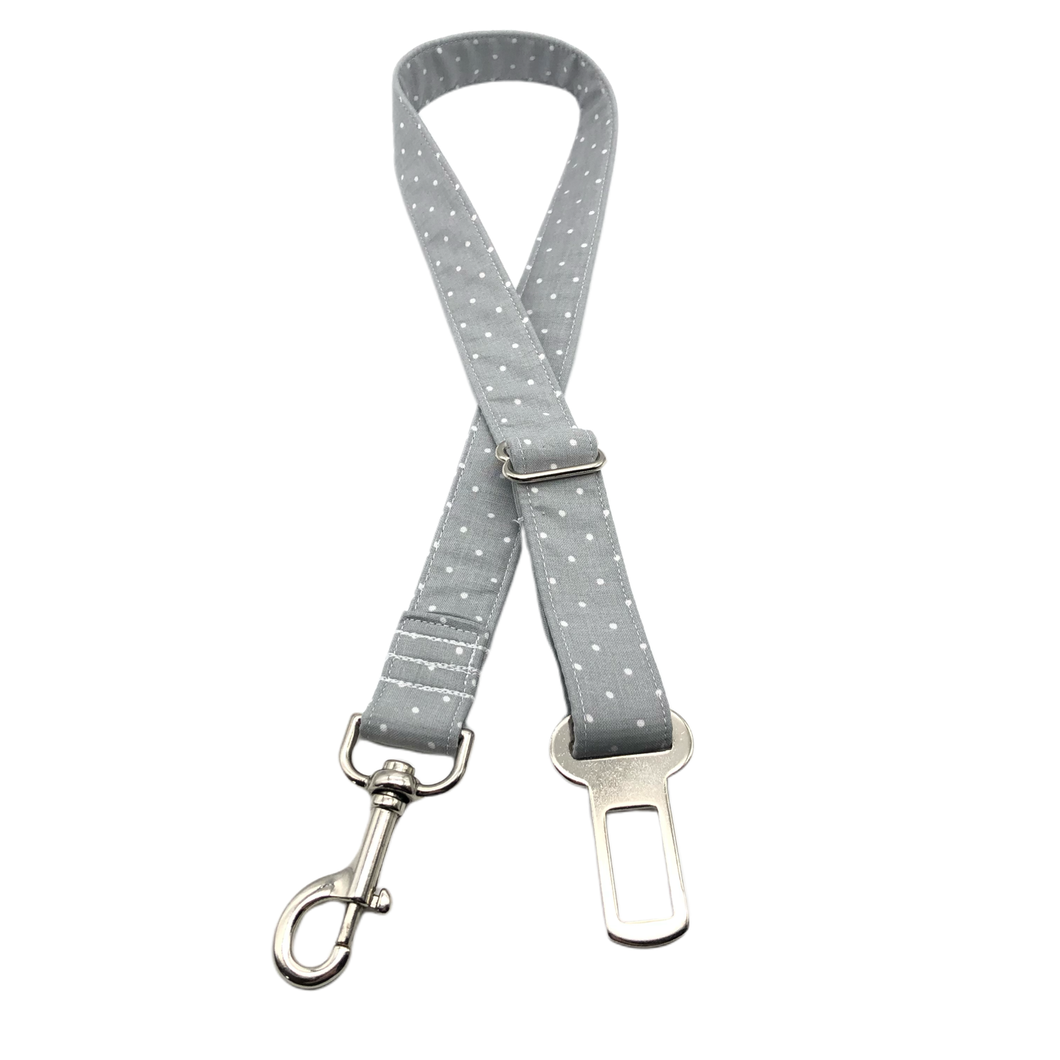 Grey Polka Dot Seat Belt Restraint