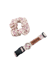 Rose Floral Collar & Matching Scrunchie