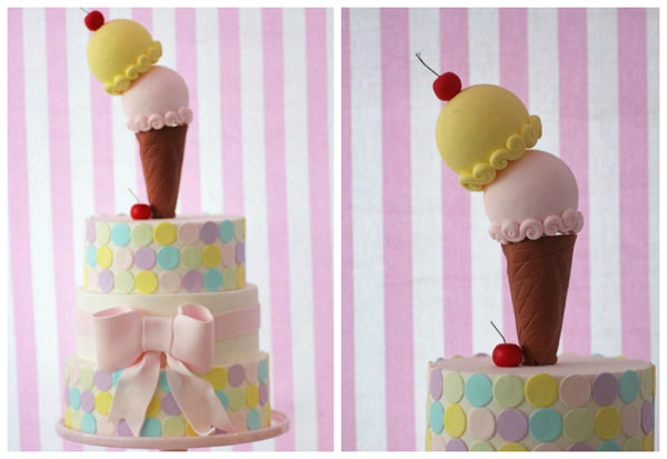 Pastel pink ice cream birthday party bickiboo party supplies