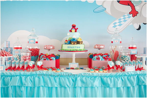 Elmo Friends Birthday Party Planning Ideas Supplies Sesame Street Bickiboo