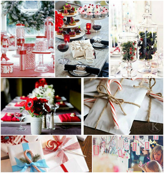 candy cane themed christmas decorating ideas - Candy Cane Christmas Table Decorations