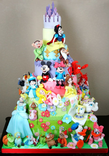 Amazing disney characters cake bickiboo designs for Art e decoration rivista