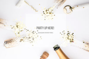 Party with us. Champagne & Confetti