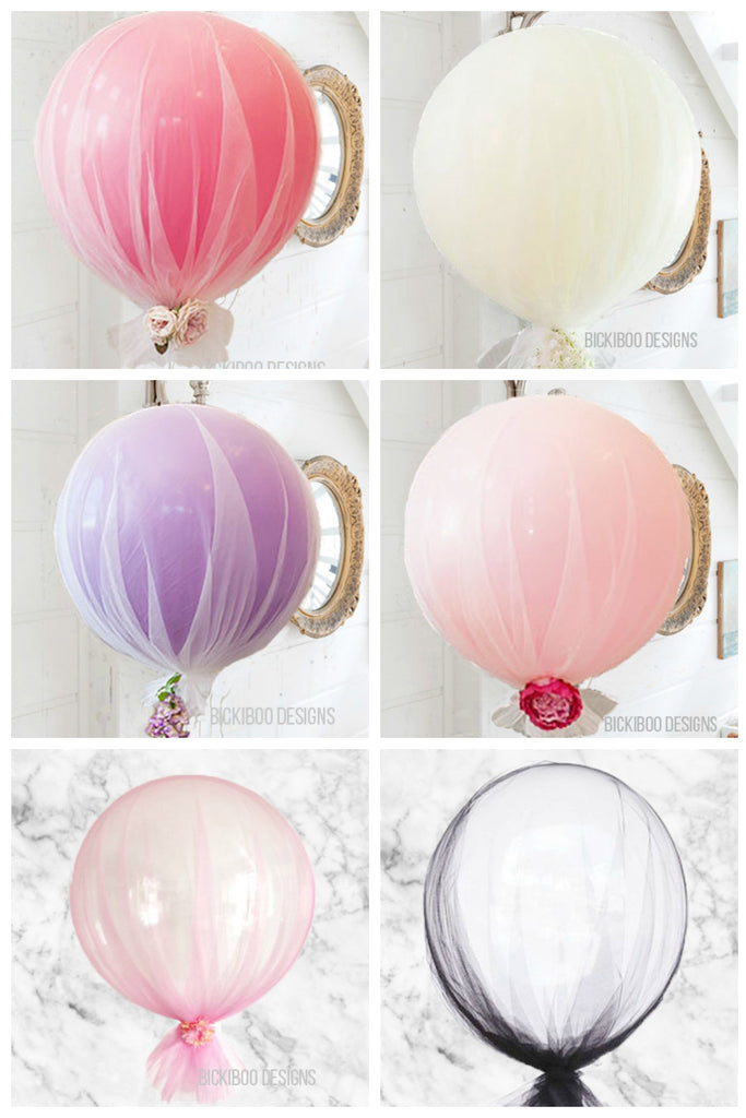 Tulle Balloons Brisbane Helium Filled Balloon Delivery