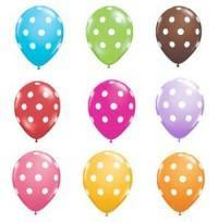 "Polka Dot Balloons 11"" - Bickiboo Party Supplies"