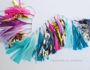 Build your own tassel garland - $2.50 per tissue tassel - Bickiboo Designs