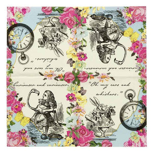 Truly Alice Dainty Napkins - Pack 20