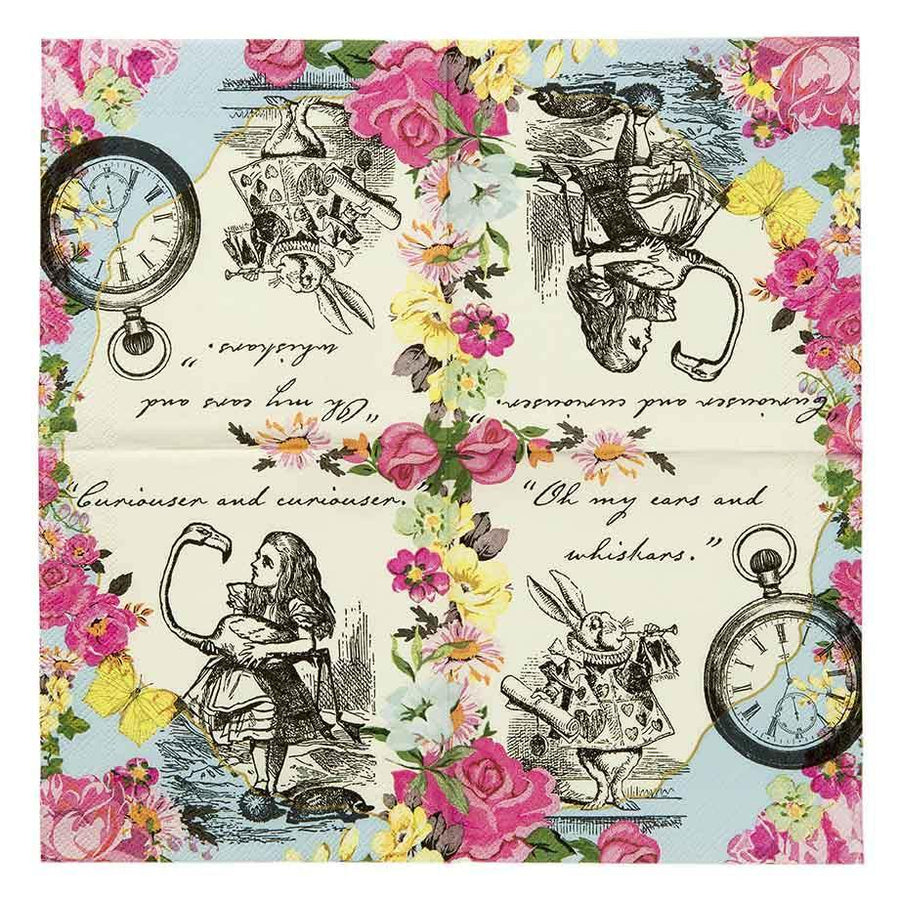 Truly Alice Dainty Napkins - Pack 20 - Bickiboo Designs
