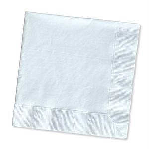 White Solid Colour Beverage Napkin 50pack