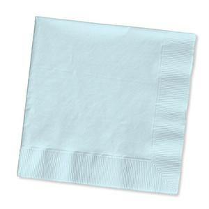 Pastel Blue Beverage Napkin 50pack - Bickiboo Party Supplies