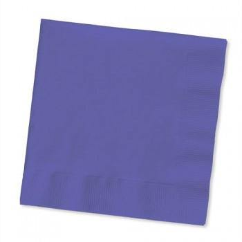 Purple Beverage Napkin 50pack - Bickiboo Party Supplies