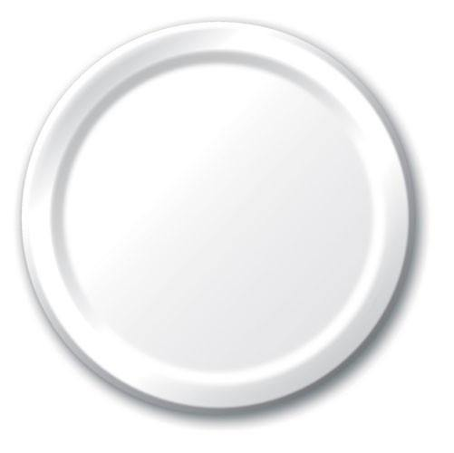 White Solid Colour Large Plate 23cm - Bickiboo Designs