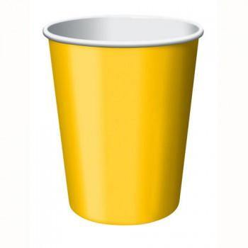 School Bus Yellow Hot/Cold Cup 24pack - Bickiboo Party Supplies