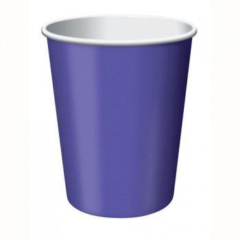 Purple Hot/Cold Cup 24pack - Bickiboo Party Supplies