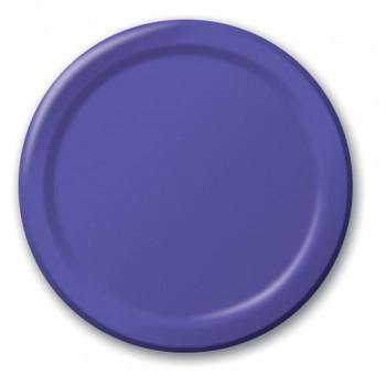 Purple Dessert Plate 18cm - Bickiboo Party Supplies