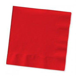 Classic Red Beverage Napkin 50pack - Bickiboo Designs