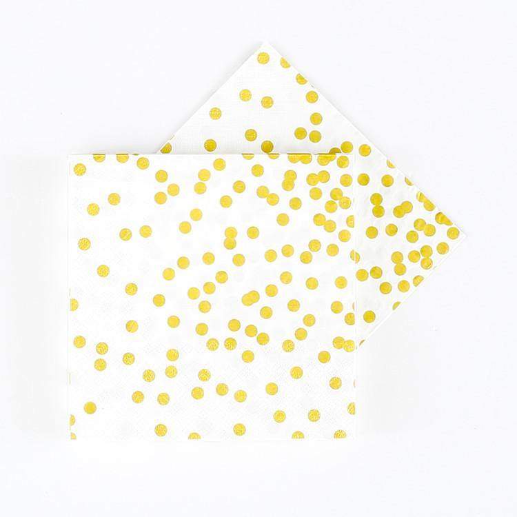 Gold Confetti Napkins -Set of 20 - Bickiboo Designs