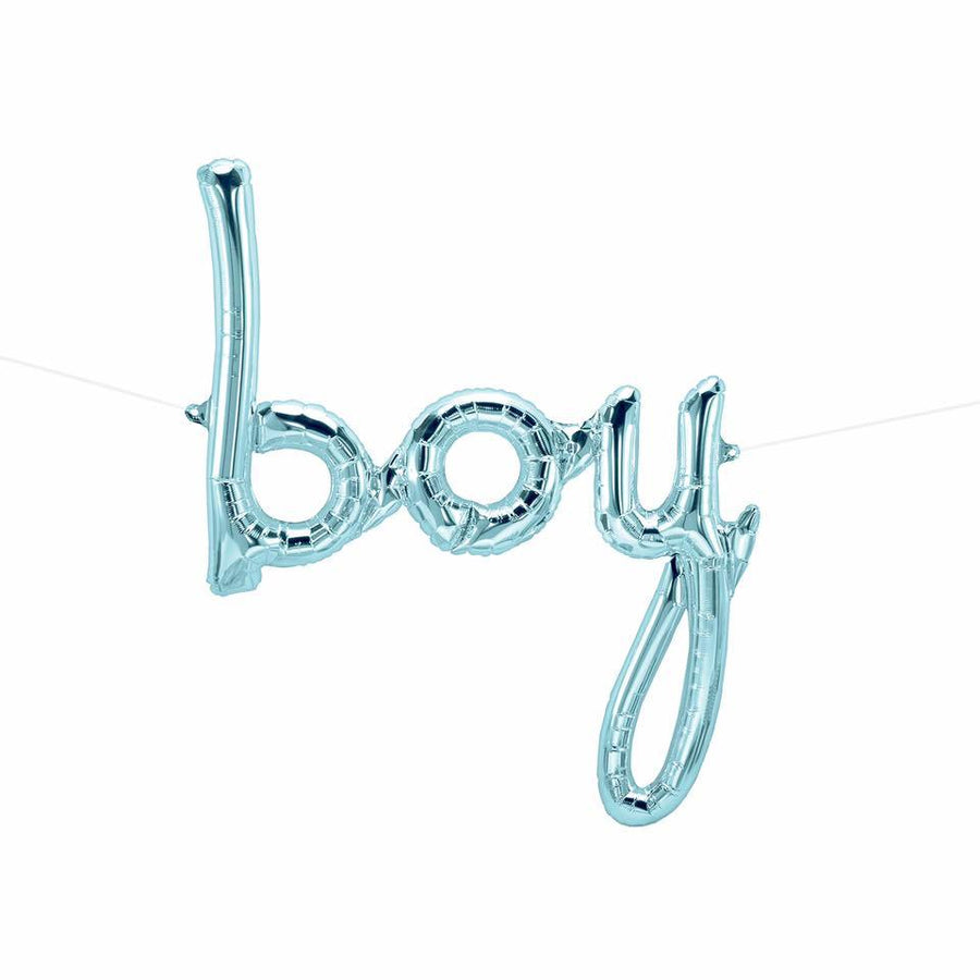 Blue 'Boy' Script Balloon - Bickiboo Designs