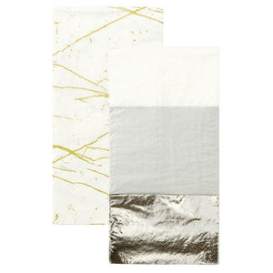 Modern Metallics Double Napkin - Pack of 20 - Bickiboo Designs