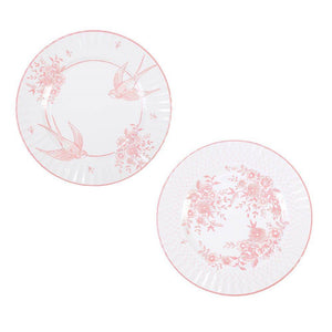 Party Porcelain Rose Large Plates- 8pk - Bickiboo Designs