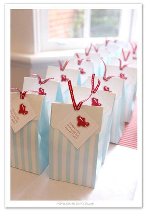 Sambellina Party Bags - Blue Stripe - Bickiboo Designs
