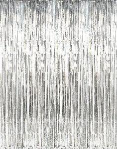 Metallic Silver Foil Fringe Curtain - Bickiboo Party Supplies