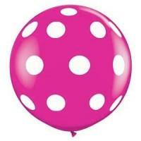 Giant Pink Berry Polka Dot Balloon - 90cm - Bickiboo Party Supplies