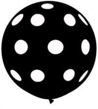 Giant Black Polka Dot Balloon Set - 90cm - Bickiboo Party Supplies