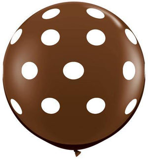 Giant Brown Polka Dot Balloon Set - 90cm - Bickiboo Party Supplies