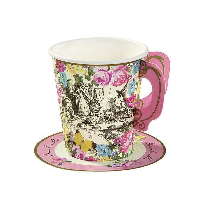 Truly Alice Whimsical Cup & Saucers - Bickiboo Designs