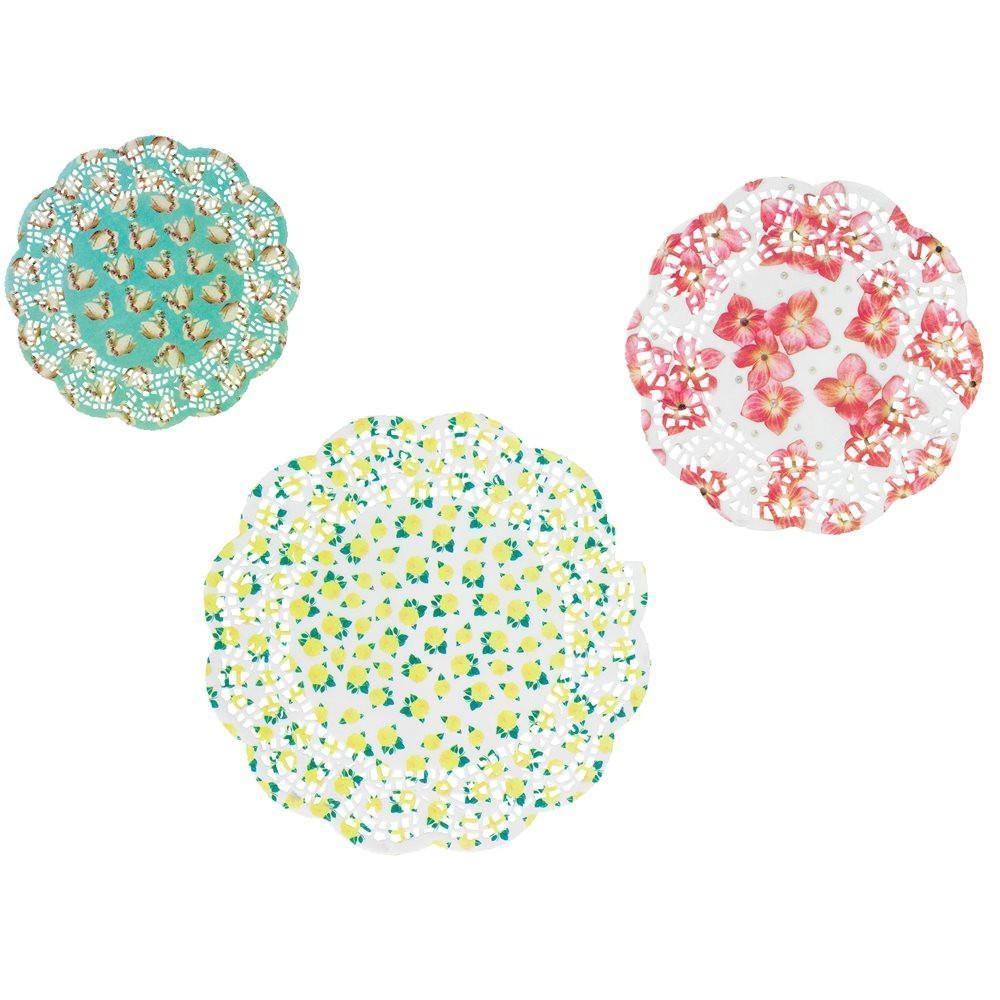 Pastries and Pearls Doilies (24 pack) - Bickiboo Party Supplies