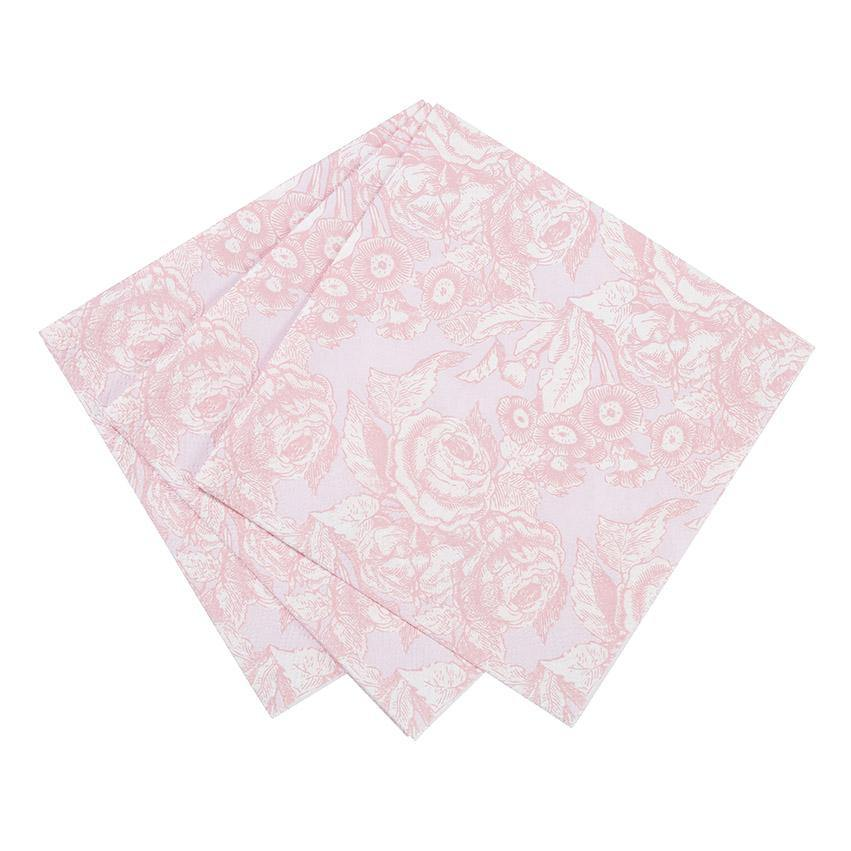 Party Porcelain Rose Cocktail Napkins - 20pk - Bickiboo Designs