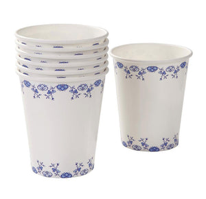 Party Porcelain Blue Cups - Bickiboo Party Supplies