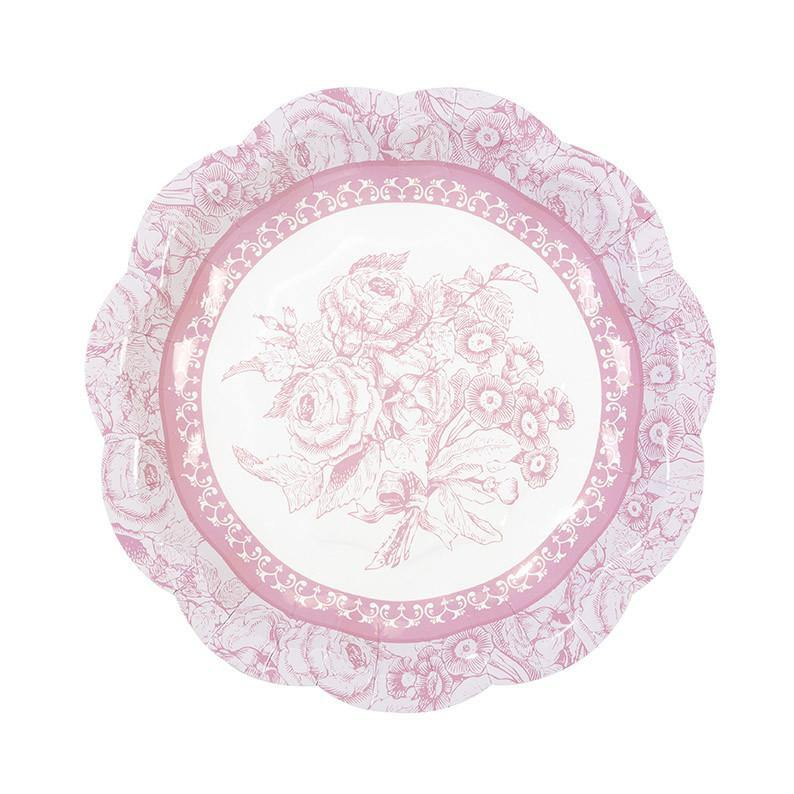 Truly Scrumptious Vintage Paper Plates-12pk - Bickiboo Designs
